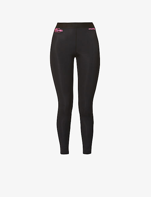 REDEMPTION ATHLETIX: Logo-embellished stretch-recycled polyamide leggings