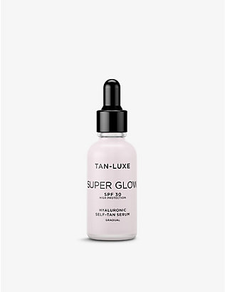 TAN-LUXE: Super Glow hyaluronic self-tan serum SPF 30 30ml