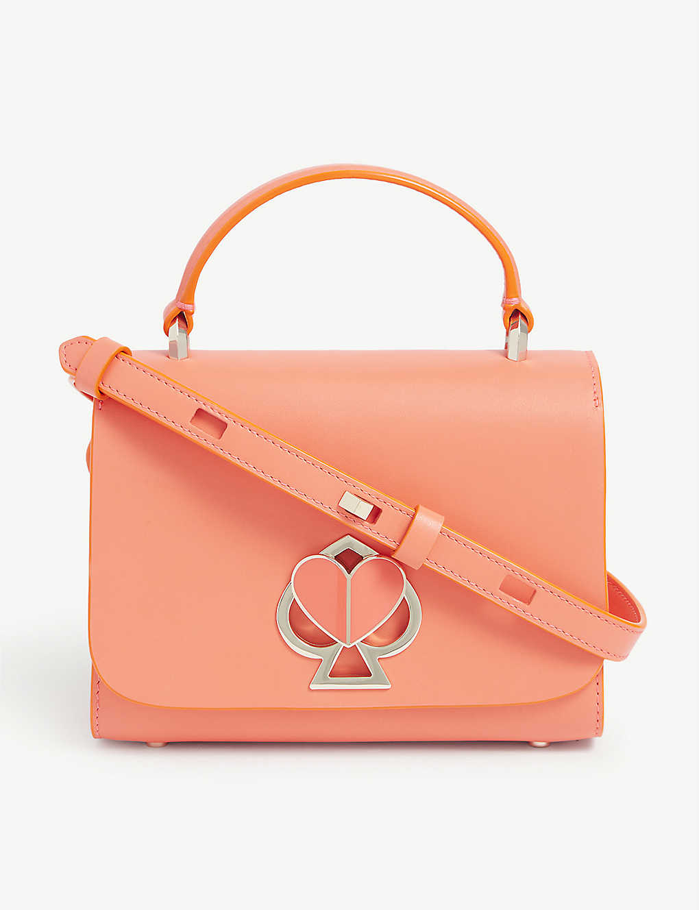 KATE SPADE NEW YORK: Heart-lock leather shoulder bag