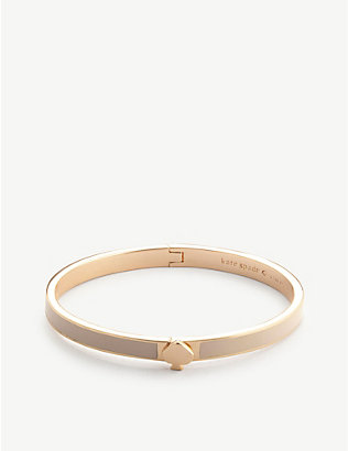 KATE SPADE NEW YORK: Rose gold-tone metal hinge bracelet