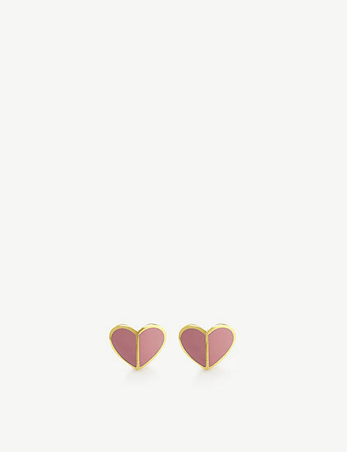 KATE SPADE NEW YORK: Heritage Spade Heart stud earrings