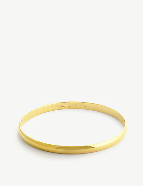 KATE SPADE NEW YORK: Heart of Gold metal bangle