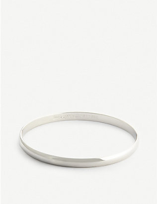 KATE SPADE NEW YORK: Find The Silver Lining idiom bangle