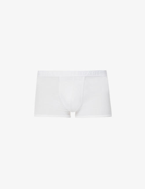 BALMAIN: Logo-embroidered stretch-modal trunks