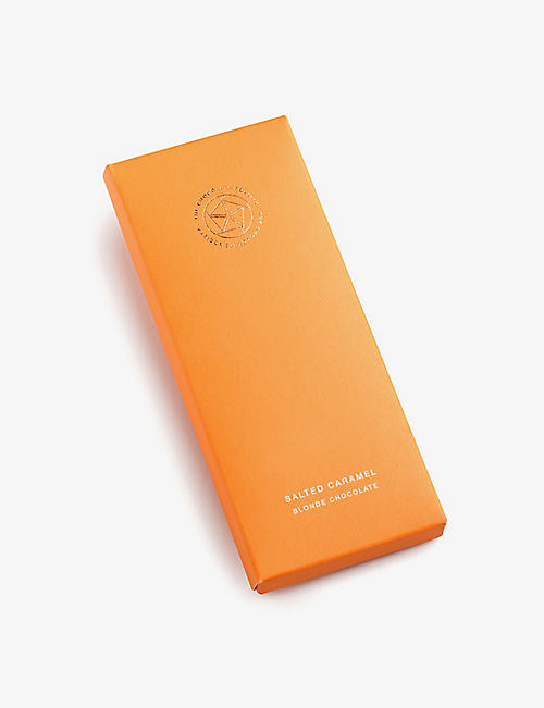 THE CHOCOLATE SOCIETY: Salted caramel blonde chocolate bar 65g