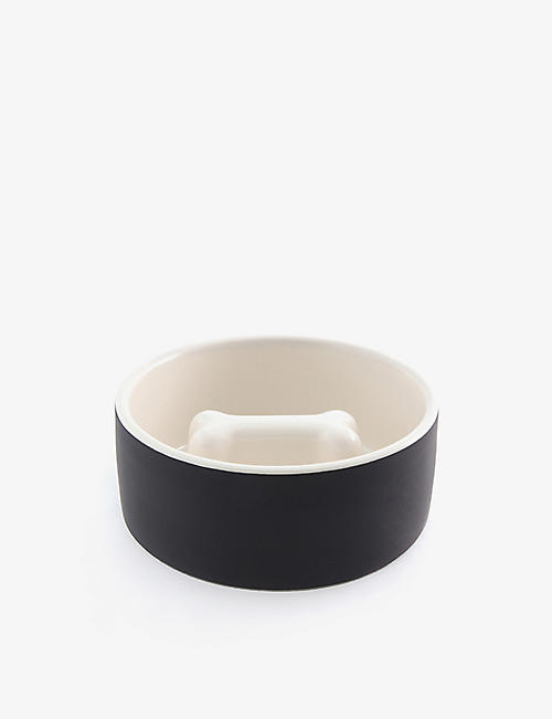 PAIKKA: Slow Feed medium ceramic pet bowl 15cm