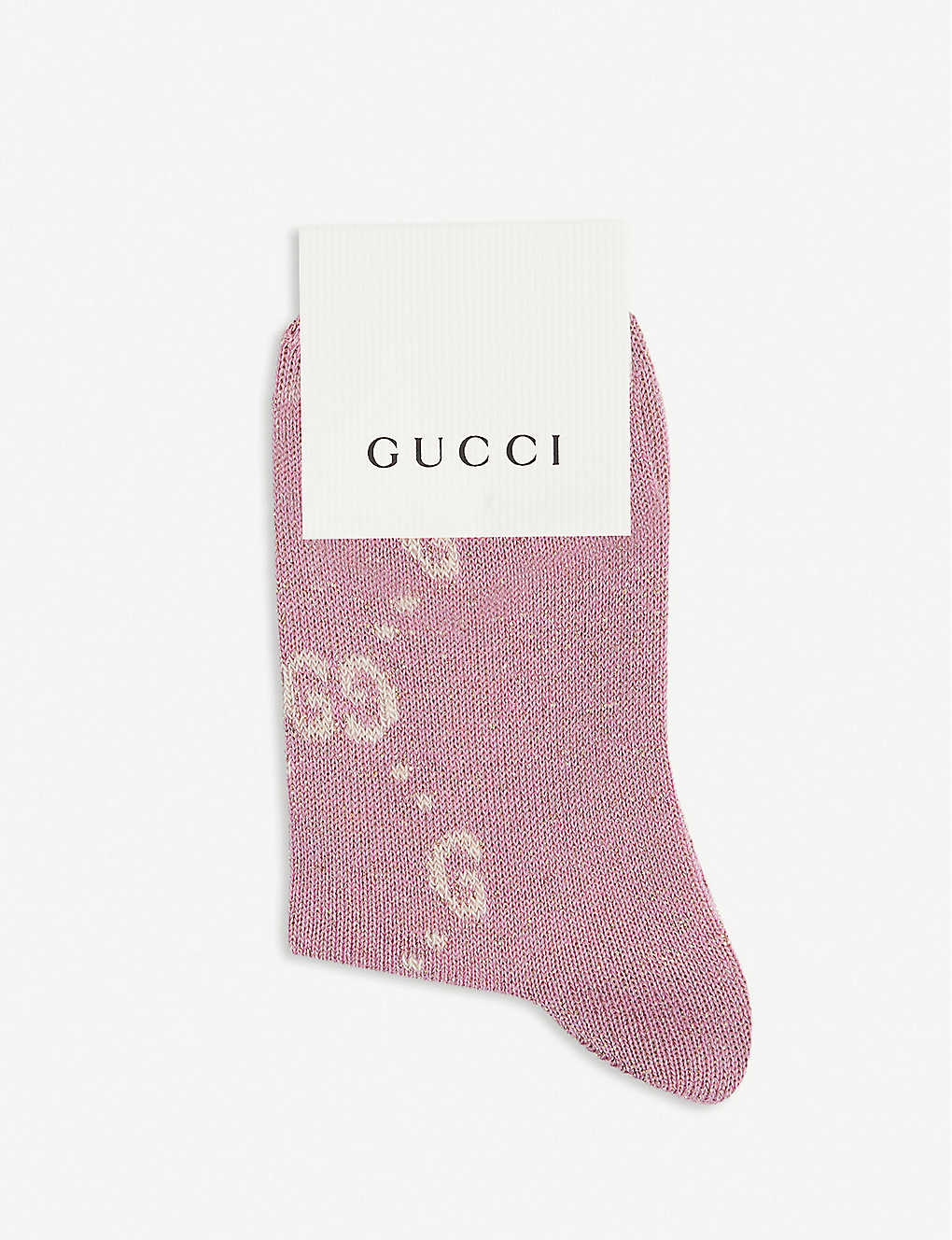 GUCCI: Logo-embroidered cotton-blend knee-high socks 0-4 years