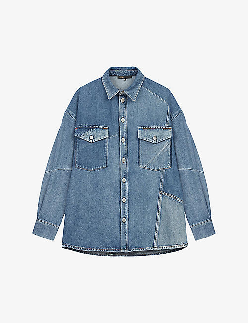 MAJE: Cilly relaxed-fit denim shirt