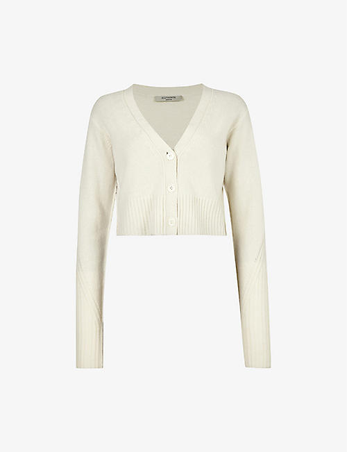 ALLSAINTS: Drew recycled cashmere and wool-blend cardigan