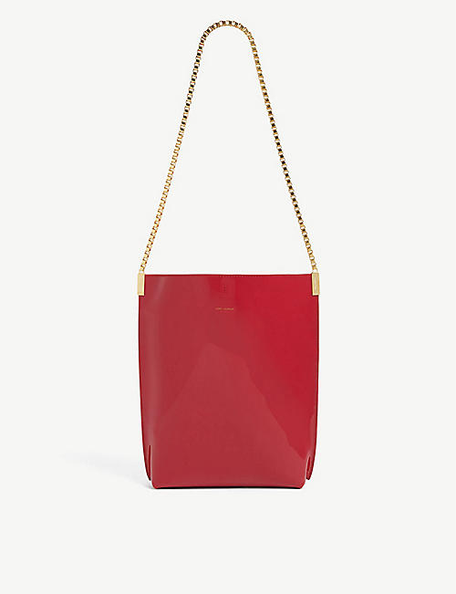 SAINT LAURENT: Chain-strap small leather hobo bag