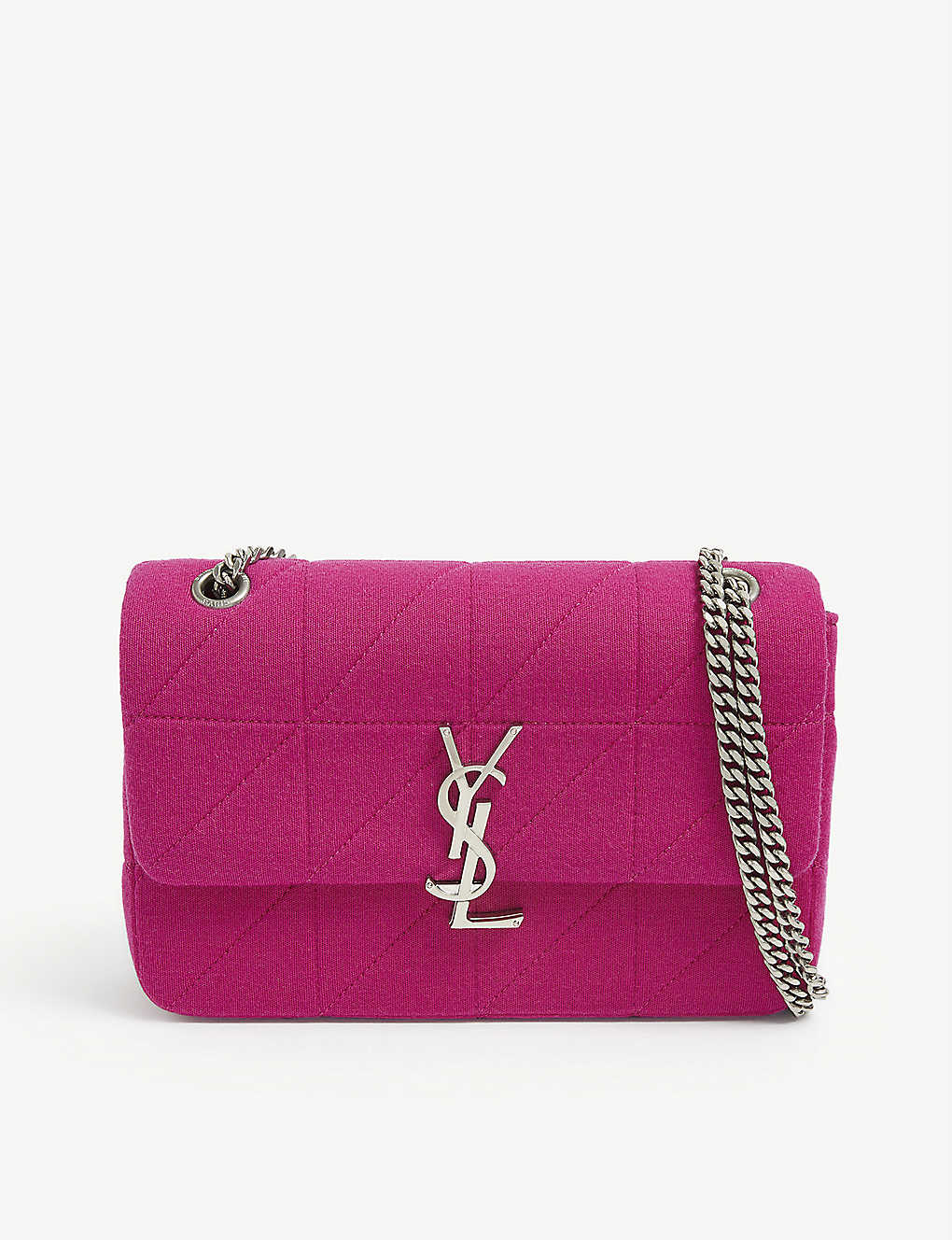 SAINT LAURENT: Jamie monogram wool shoulder bag