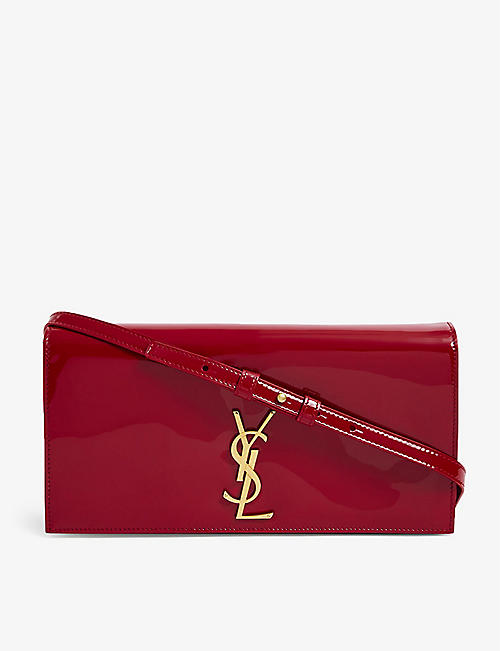 SAINT LAURENT: Kate patent leather shoulder bag