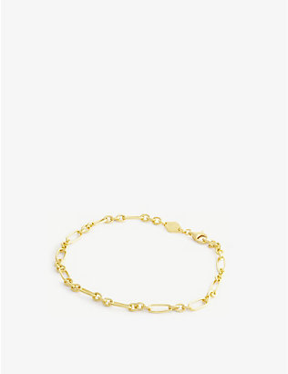 ANNI LU: Lynx 18ct gold-plated sterling silver bracelet