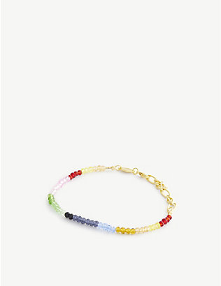 ANNI LU: Chasing Rainbows gold-plated and glass bracelet