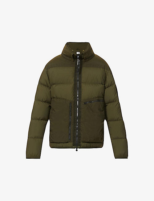 CP COMPANY: Padded high-neck shell-down puffer jacket