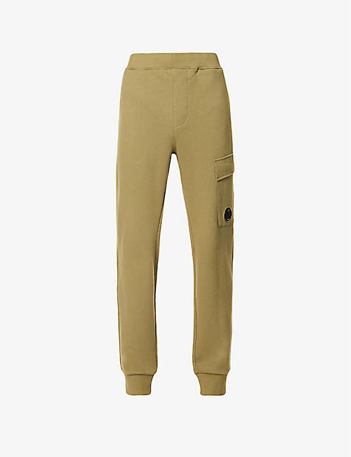CP COMPANY: Lens-detail cotton-jersey jogging bottoms