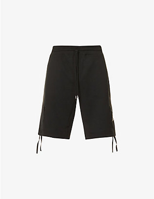 CP COMPANY: Lens-detail cotton-jersey shorts