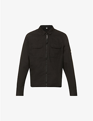 CP COMPANY: Zip-embellished cotton overshirt