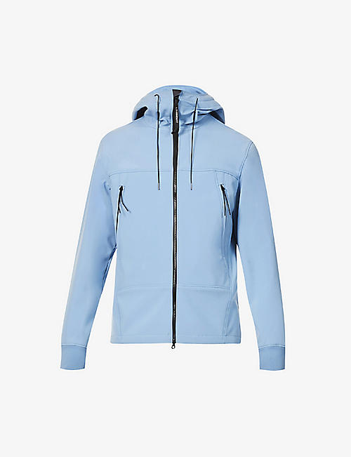 CP COMPANY: Goggle-embellished padded stretch-shell hooded jacket