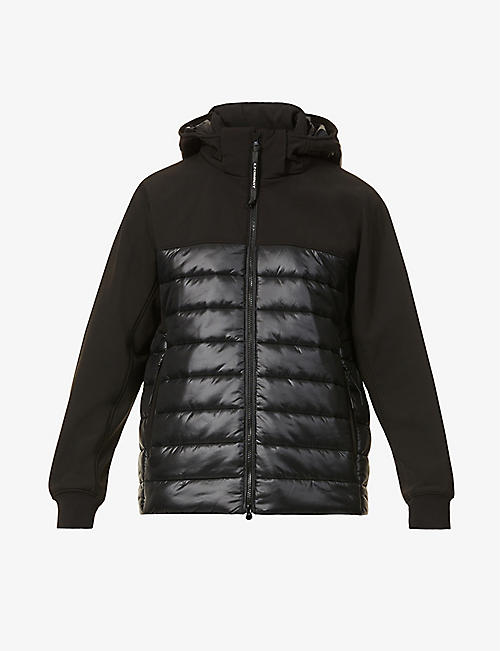 CP COMPANY: Softshell shell-down jacket