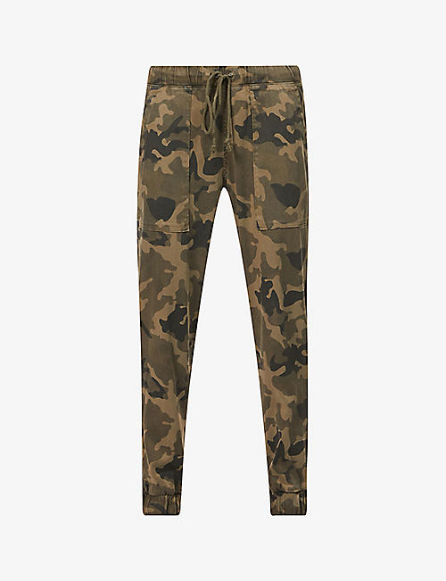BELLA DAHL: Camouflage-print drawstring-waistband cotton-blend trousers