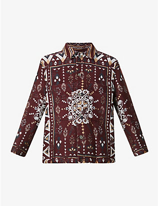 SONG FOR THE MUTE: Embroidered woven jacket