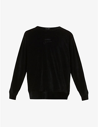 SONG FOR THE MUTE: Crewneck velour jumper