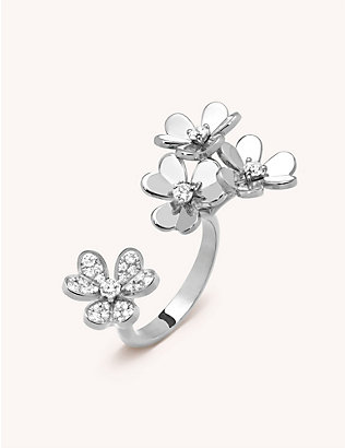 VAN CLEEF & ARPELS:Frivole Between the Finger 白金钻石戒指