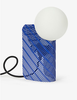 GOODWASTE: Recycled perforated steel lamp 14cm