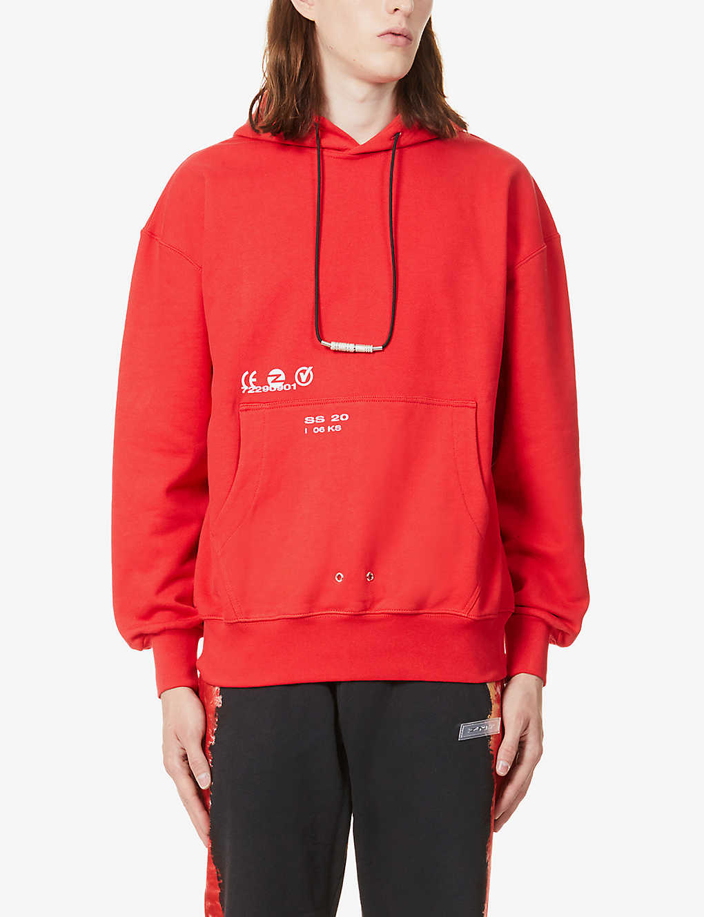 ZNY: Graphic-print cotton-jersey hoody