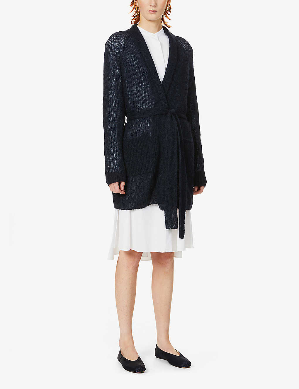 MAX MARA: Liuto belted mohair-blend cardigan
