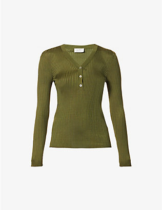 GIULIVA HERITAGE: Amelia ribbed jersey top