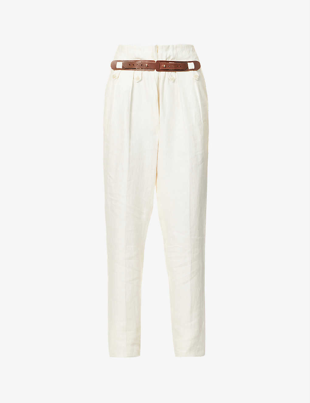GIULIVA HERITAGE: Geraldina wide high-rise linen trousers