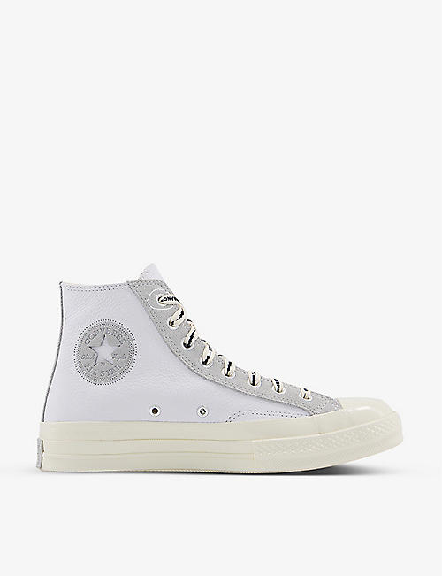 CONVERSE: All Star Ox 70's high-top leather and suede trainers