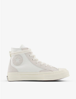 CONVERSE: All Star Hi 70 high-top canvas and suede trainers