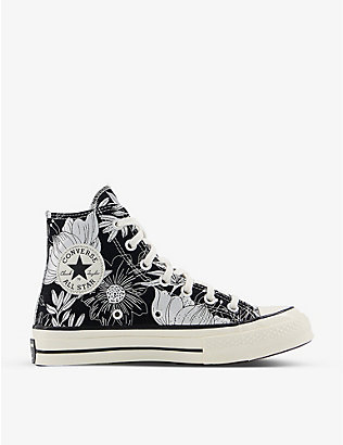 CONVERSE: All Star 70 floral-print high-top canvas trainers