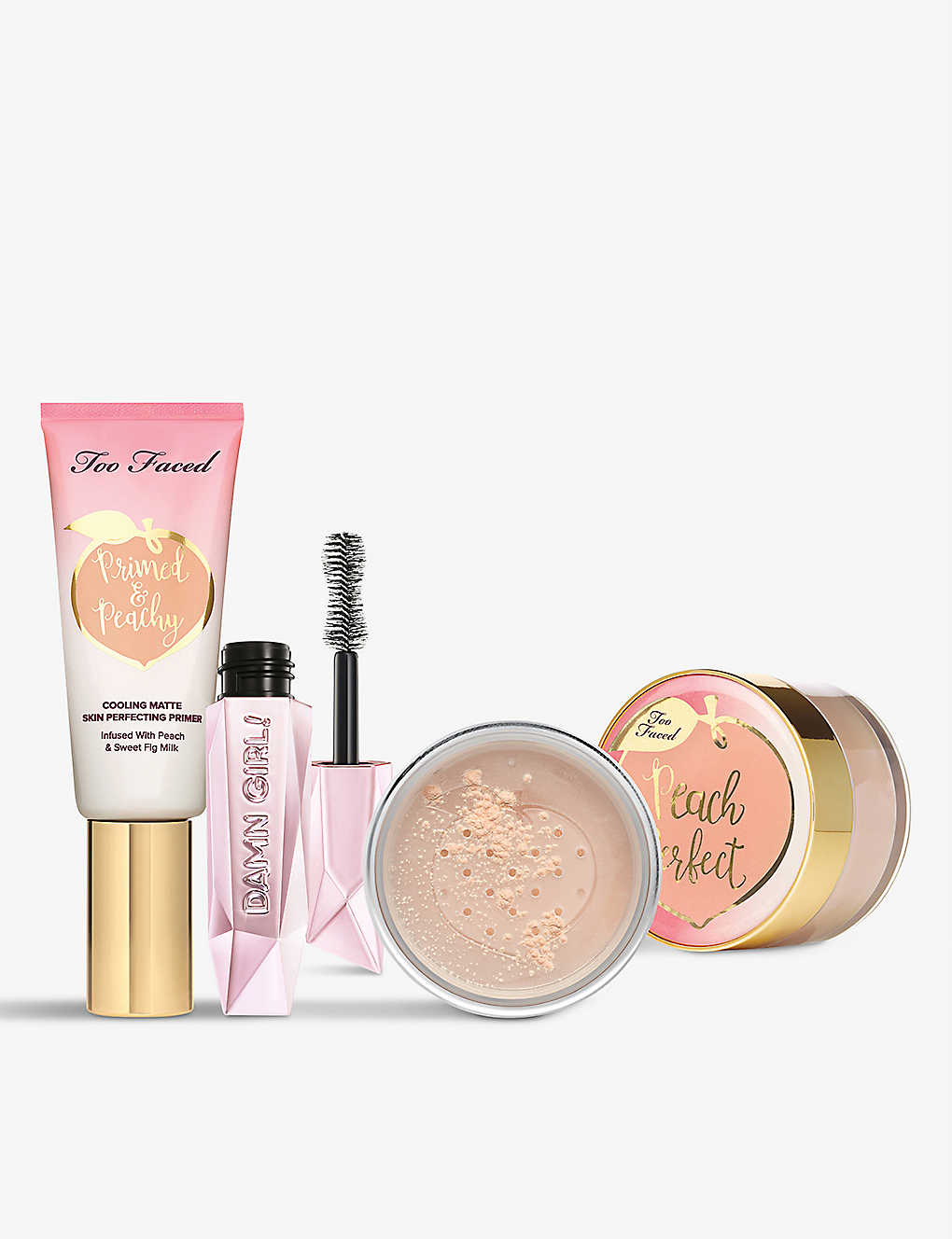 TOO FACED: Damn Girl, Nice Peaches gift set
