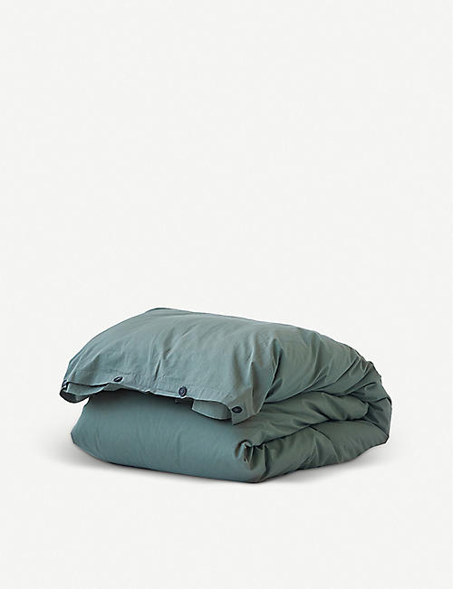 TEKLA: Single organic-cotton duvet cover 200cm x 140cm