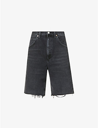 AGOLDE: Pinch slim-leg high-rise denim shorts