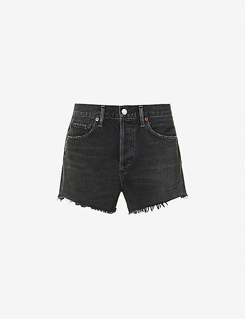 AGOLDE: Parker high-rise denim shorts