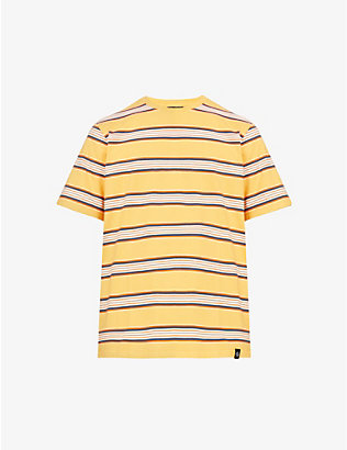 DICKIES: Lithia striped cotton-jersey T-shirt
