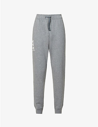 UNDER ARMOUR: Rival cotton-blend jersey jogging bottoms