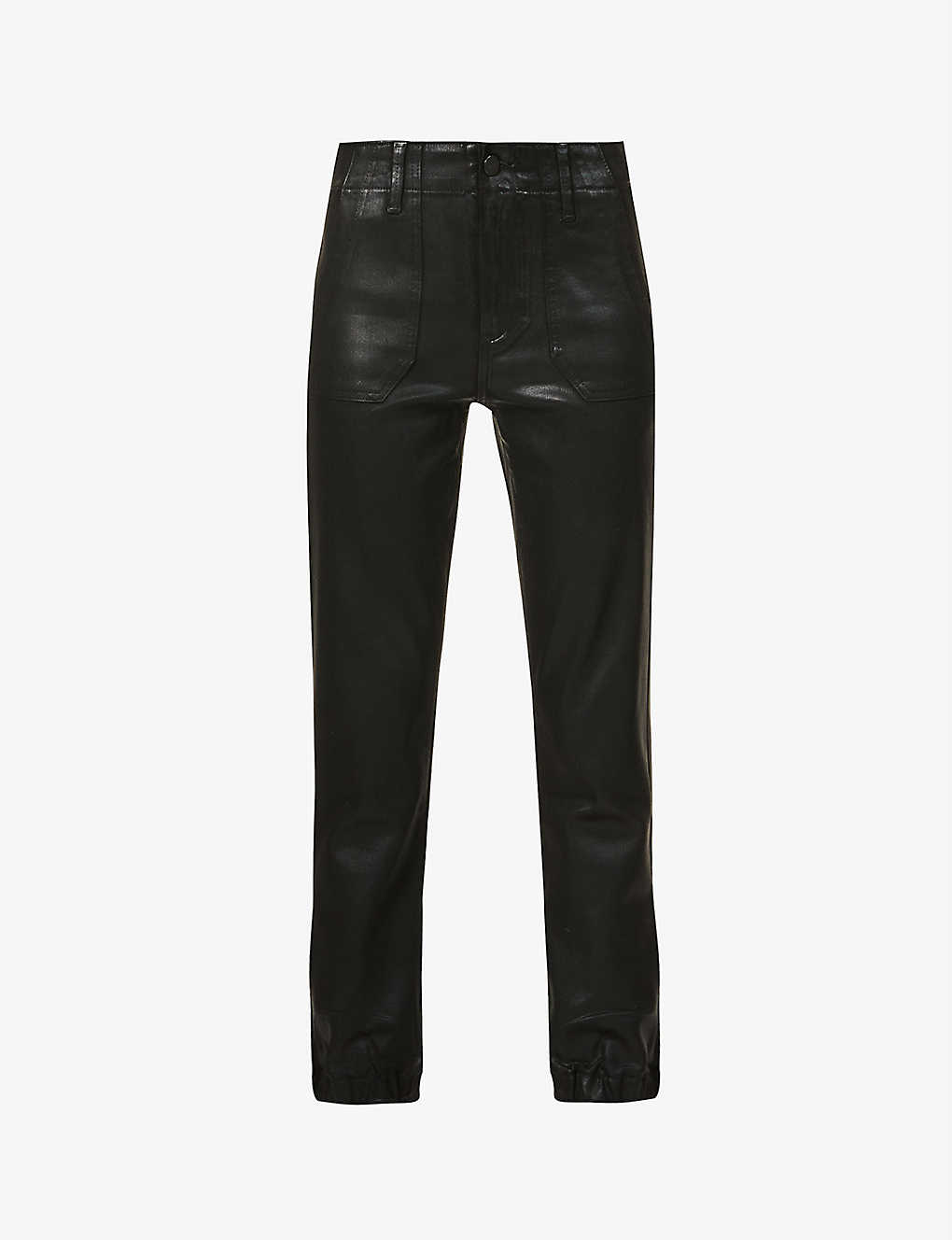Tapered Faux Leather Trousers