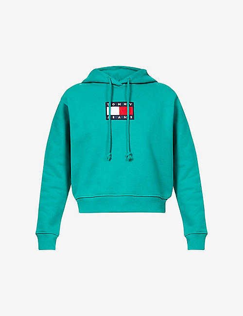 TOMMY JEANS: Tommy Flag cotton-jersey hoodie