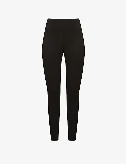 SKIN: Norma ribbed high-rise cotton-blend leggings