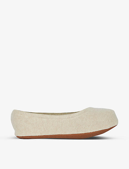 SKIN: Cashmere ballet slippers