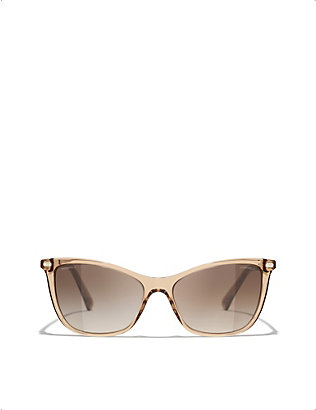 CHANEL: CH5437Q acetate square-frame sunglasses