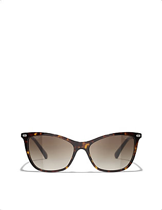 CHANEL: CH5437Q 54 acetate cat-eye sunglasses