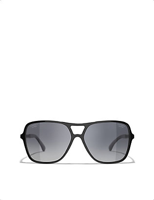 CHANEL: CH5439Q 59 acetate pilot sunglasses