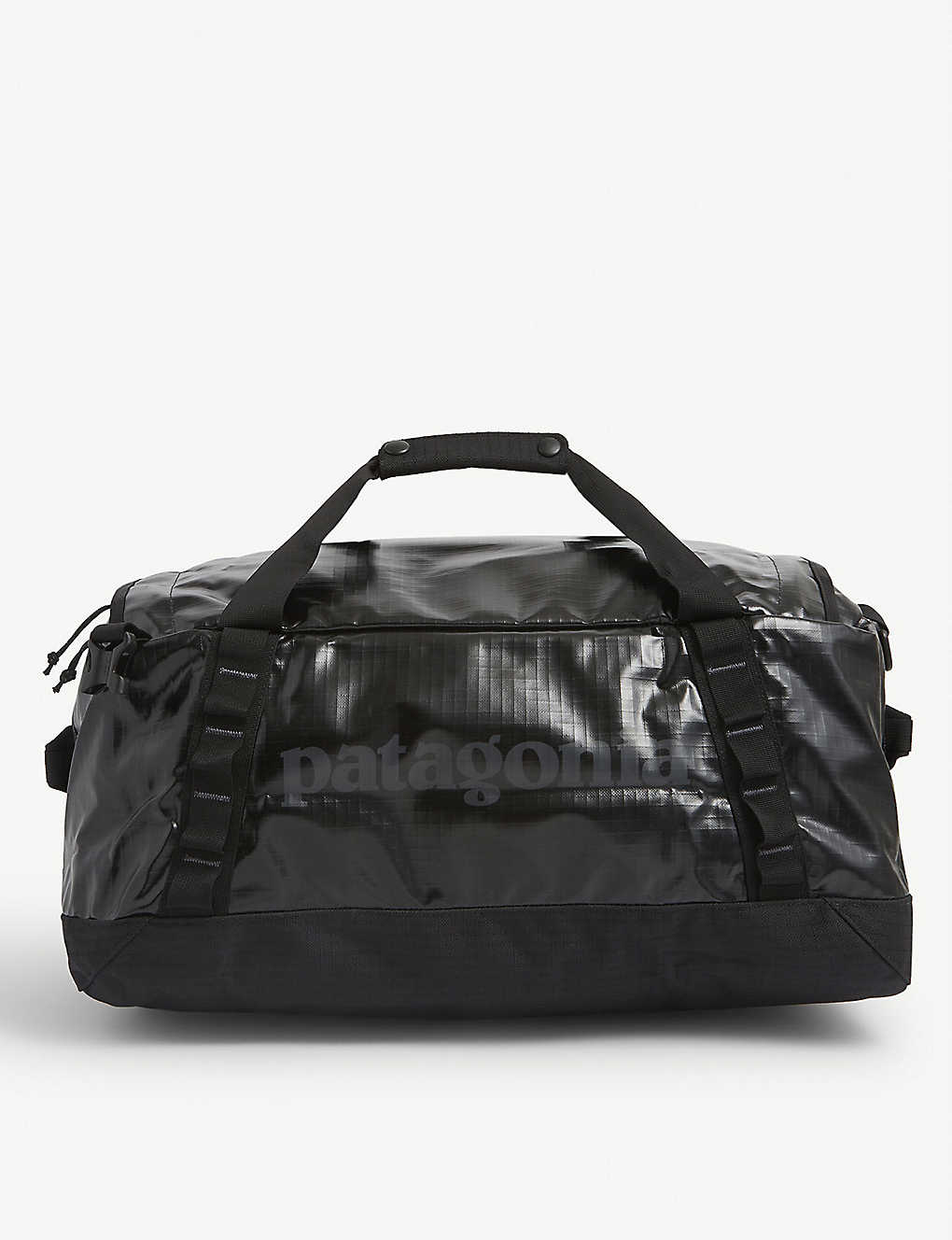PATAGONIA: Black hole recycled nylon duffle bag